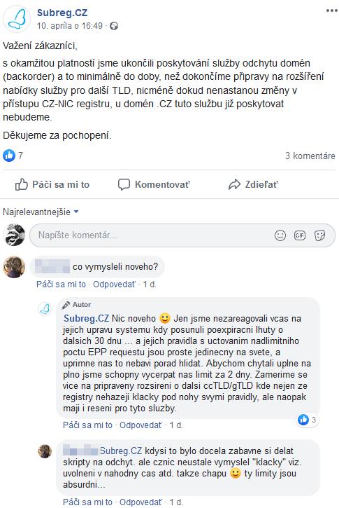Prodané .cz domény 6. – 12. dubna a jedna v?c o které bych rád napsal
