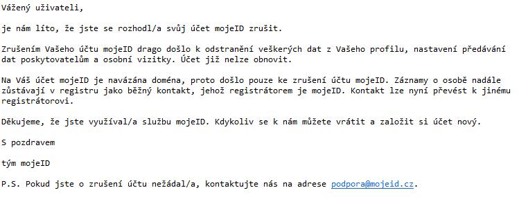 Jak získat zp?t zablokovaný kontakt k .cz domén?, pokud je navázaný na MojeID