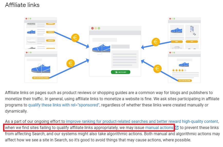 Za affiliate odkaz penalizace od Google?